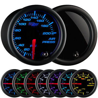 52mm GlowShift Tinted 7 Color 200 PSI Air Pressure Gauge - GS-T713