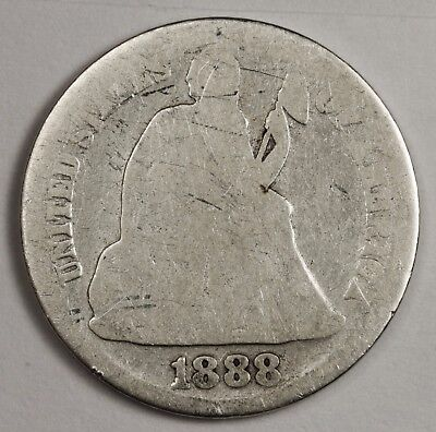 1888-s Liberty Seated Dime.  Circulated.  119506