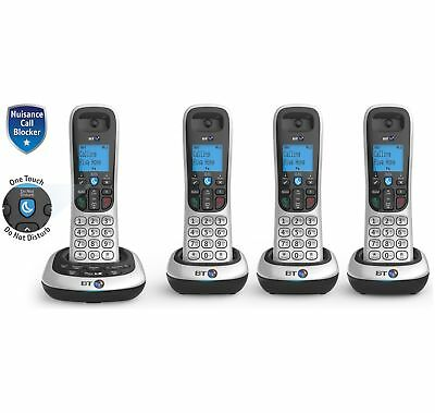BT 2700 Cordless Quad Telephone with Answer Machine - Black/Silver - Argos eBay