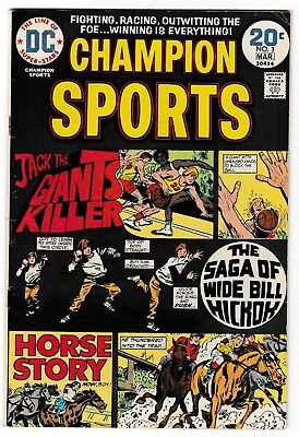 CHAMPION SPORTS #3 (FN) Basketball! Horse Racing! DC Bronze-Age 1974