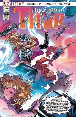 MIGHTY THOR #700 LEGACY, New, First print, Marvel Comics (2017)