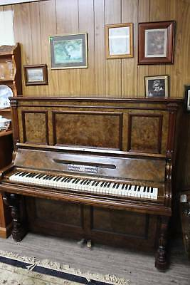 An Antique Burr Walnut German Piano - Free Delivery to easy access within 30kms