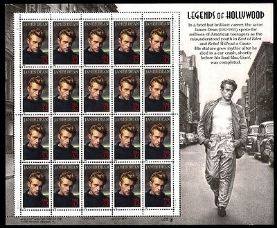 1996 - JAMES DEAN - #3082 Full Mint -MNH- Sheet of 20 Postage Stamps