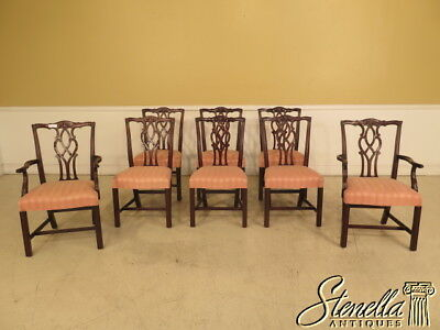 L39155E: Set Of 8 KINDEL Chippendale Mahogany 18 C. Dining Room Chairs
