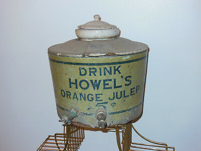 Drink Howels Orange Julep antique syrup dispener 1910s country store primitive