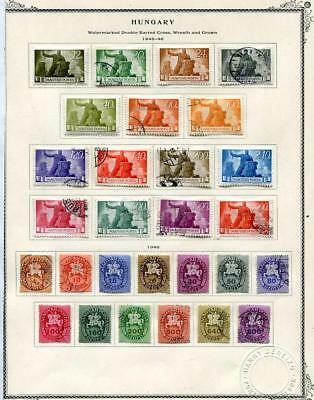 Hungary Collection 1945-51 on 10 pages Mostly Used &complete sets Cv €156 h1254