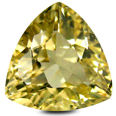 2.32 ct AAA Super-Excellent Trillion Shape (9 x 9 mm) Yellow Heliodor Beryl