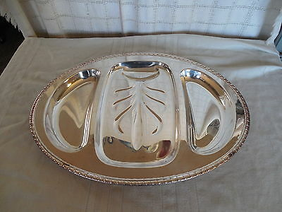 "Rogers  & bros I/S silverplate 21""  meat  tray  #1757"