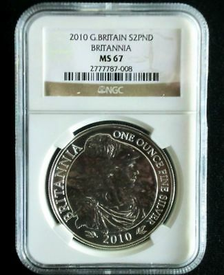 Britannia 2010 UK 2 Pfund £2 Great Britain Großbritannien Silber ST - NGC MS67