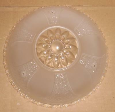 Vtg Art Deco White Frosted Glass Ceiling Light Fixture Shade Replacement Shade
