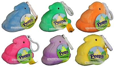 """DANDEE* 3"""" PEEPS Plush CHICK + Backpack/Purse Clip EASTER Pastel *YOU CHOOSE*"""