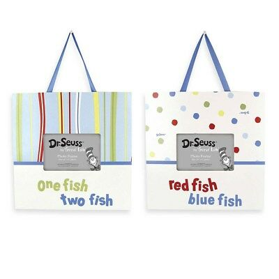 Trend Lab Dr Seuss Picture Frame Wall Nursery Toddler One Fish Two Fish 2 Set
