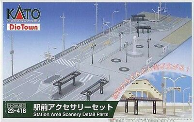 Kato 23-416 Station Area Scenery Detail Parts (for Kato 23-411) (N scale)