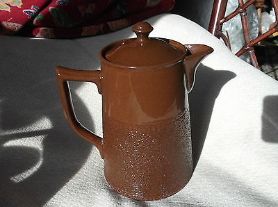 Rare Vintage Collectable Coffee Pot Textured Brown Pottery Masons Staffordshire