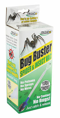 Bug Buster Spider insect fly Catcher humane spider vac not killer Battery Inc