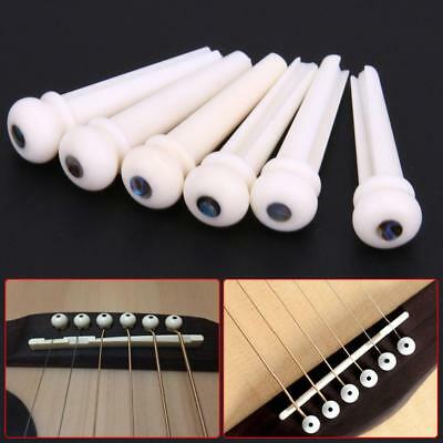 1 Set Portable Natural Cattle Bone Material Bone Bridge Pins Saddle Part PW