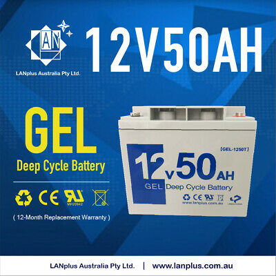 12V 50AH DEEP CYCLE GEL BATTERY 6FM50 Mobility Scooter Wheelchair Buggy 6DZM50