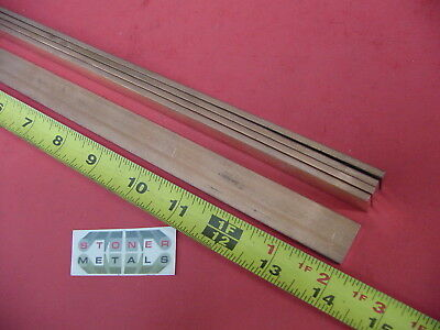 """5 Pieces 1/8"""" x 3/4"""" C110 COPPER BAR 14"""" long Solid Flat Mill Bus Bar Stock H02"""