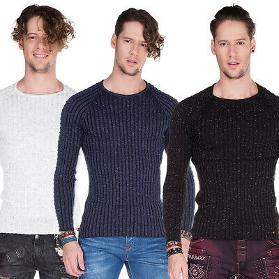 Pulls, Gilets & Sweat-shirts Cipo & Baxx Pull col roulé Manches Longues Homme Pulls, Gilets & Sweat-shirts
