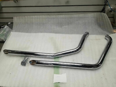 """NEW Drag Pipes Harley Softail Heritage Fatboy 1986-2006 FXST 1 3/4 40"""" Chrome!"""
