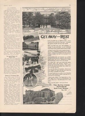 1916 Battle Creek Sanitarium Quack Medic Doctor Kellog Outdoor Vacation16996