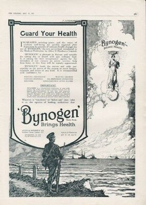 1917 Bynogen Soldier Angel Heaven Ship Medical Lake Ad 8075