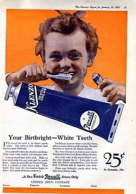 1920 Rexall Klenzo Toothpaste Teeth Mouth Cream Beauty6355
