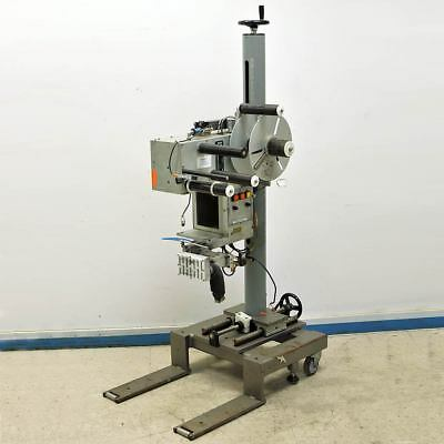 Labeling Systems Inc. LSI Model 2471 Label Applicator Head + Rolling Stand AS/IS