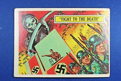 1965 Topps Battle Cards - #1 Fight To The Finish - Good Condition