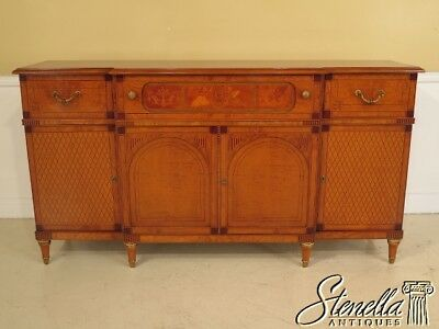 28404EC: Gorgeous Italian Made Inlaid Walnut Sideboard Credenza