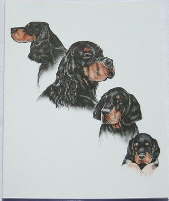 Gordon Setter Dog Laura Rogers Pet Notes Notecard Set of 10