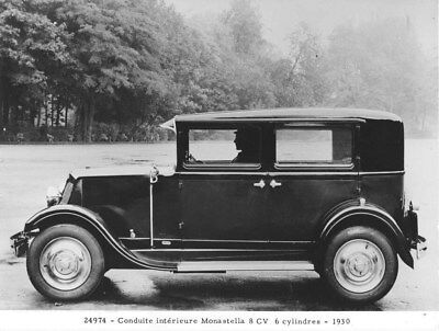 1930 Renault Monastella Saloon ORIGINAL Factory Photo oua2004