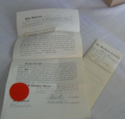 Antique Deed to  Woodlawn cemetery plot in NYC