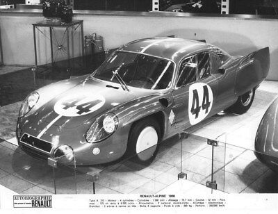 1966 Renault Alpine ORIGINAL Factory Photo oua2036