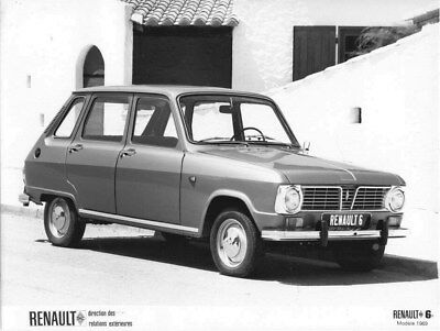 1969 Renault 6 ORIGINAL Factory Photo oua2081
