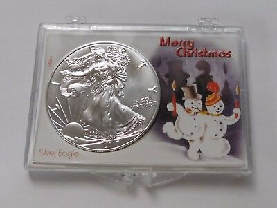 2018 1 oz Silver American Eagle BU Bullion Coin Christmas Snowman