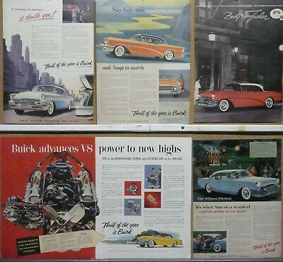 1955 Buick Ad Lot (5) Print Ads