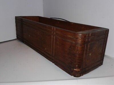 Vintage Wood Drawer Form Treadle Sewing Machine Cabinet Left Side