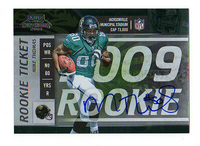 Mike Thomas  Nfl 2009 Payoff Contenders Autographed Rc (Jaguars)