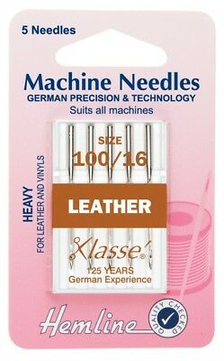 Hemline Leather Universal Sewing Machine Needles (H104-M)