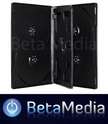 10 x Black 14mm ** HOLDS 6 Discs ** Quality CD / DVD Cover Cases