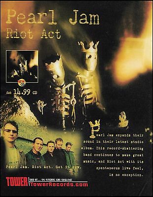Pearl Jam 2002 Riot Act ad 8 x 11 advertisement print