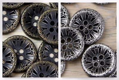 Impex Round Fancy Metal Buttons (G437124-M)