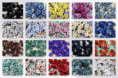 Impex Round Spotty Coloured Buttons G437320-M