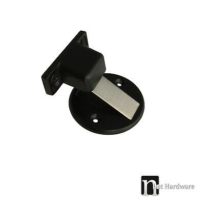 Floor Mounted Magnetic Door Stop – Matt Black Finish