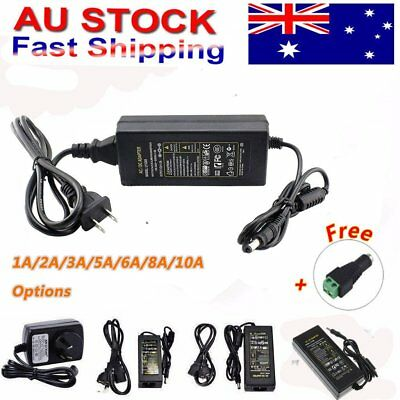 1/2/3/5/6/8A 10A 12V DC Power Supply Charger Adapter 3528 5050 LED Strip AU PLUG