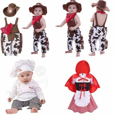 480413b6b Child Baby Boy Girl Carnival Cowboy Western Sheriff Fancy Costume Outfit  Clothes