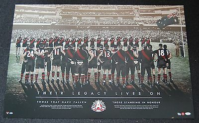 Essendon Bombers Anzac Day Their Legacy Lives On Official Afl Print Watson Hird