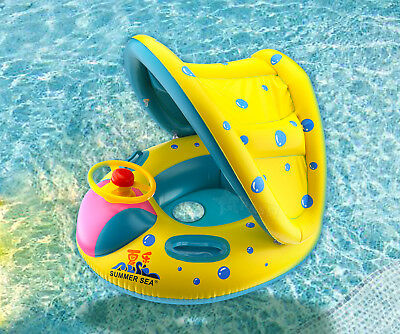 Inflatable Baby Kid Float Seat Boat Swimming Pool Ring Wheel Sunshade Canopy  sc 1 st  PicClick & DISNEY Frozen Baby Kid Horn Wheel Swimming Inflatable Float Seat ...