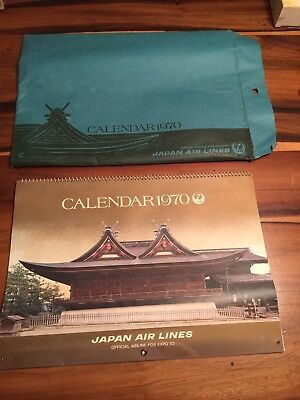 1970 Japan Air Lines Calendar - Official Airline For Expo '70
